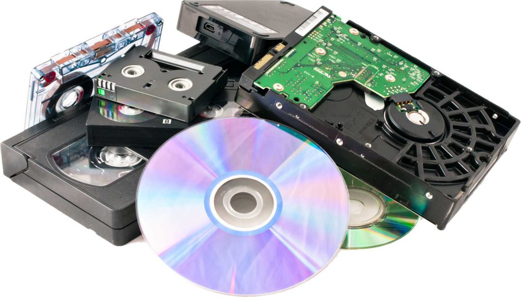 Hard Drives, Tapes and Other Media For Shredding